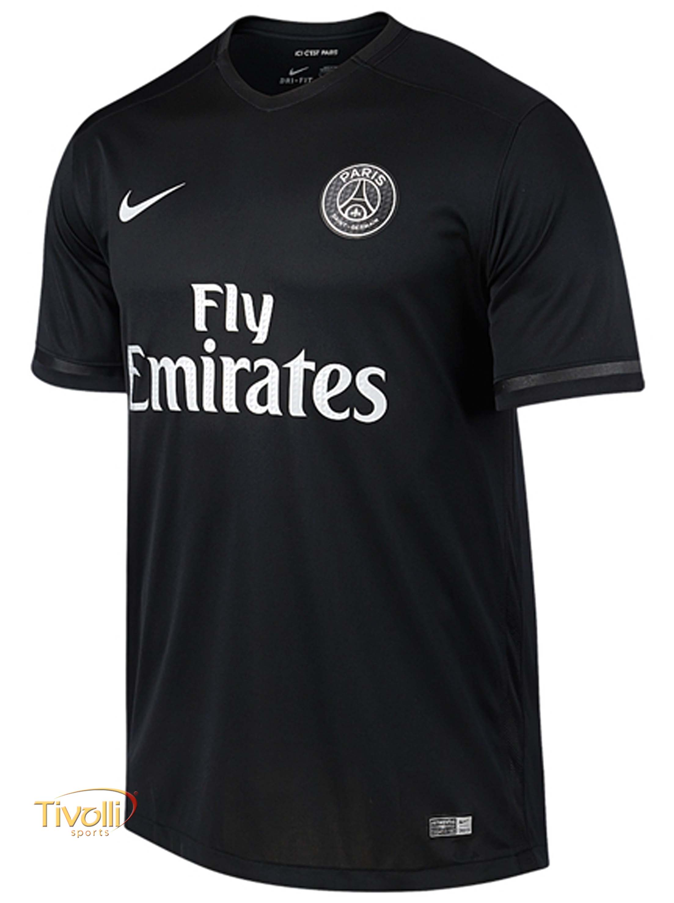 Camisa PSG Paris Saint-Germain III Nike Masculina Torcedor 2015 2016 Preta 039a6664b70b8