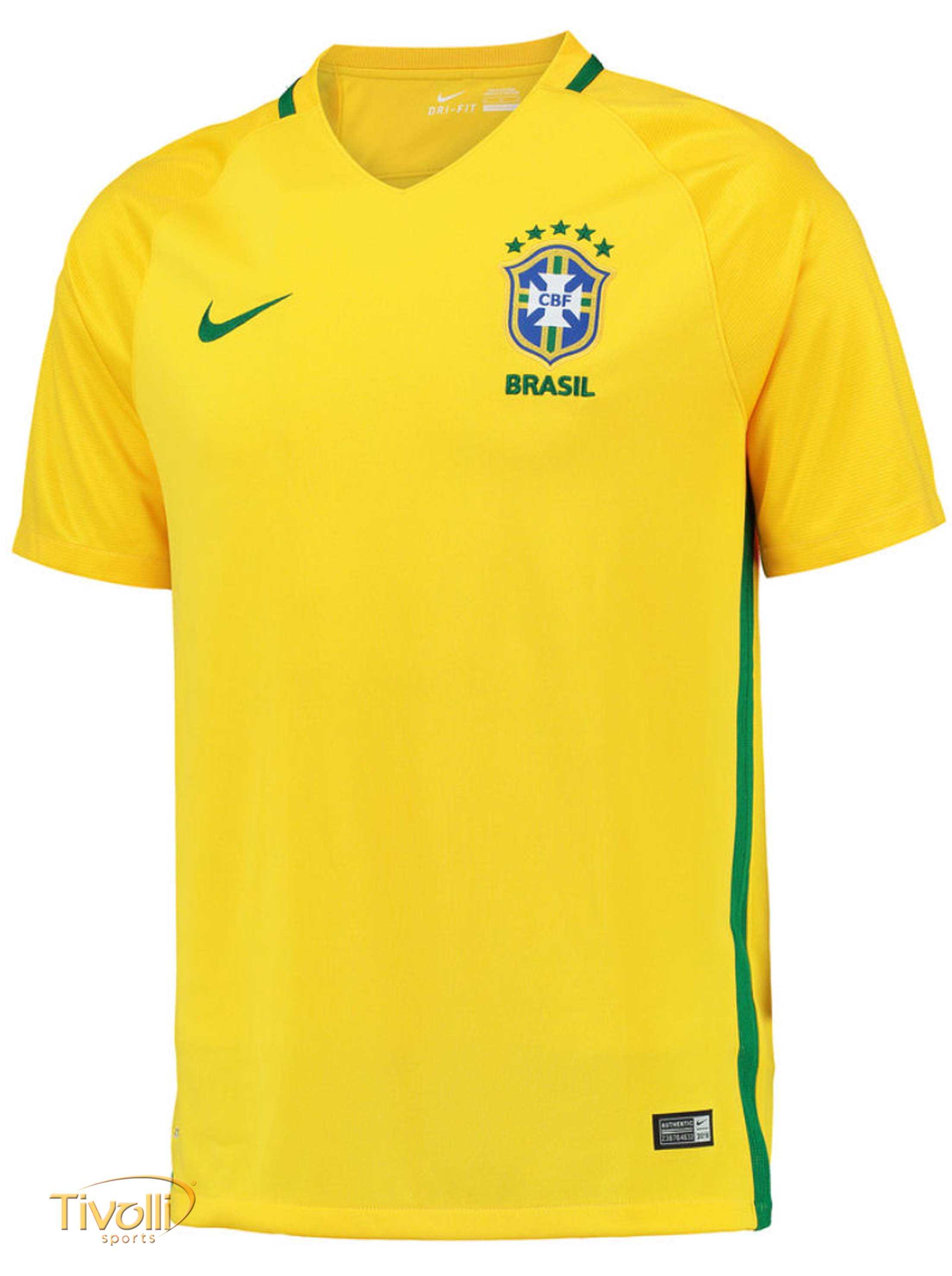 Camisa Brasil I Home CBF Nike 2016 2017 Infantil   - Mega Saldão   5a39819f1e57d
