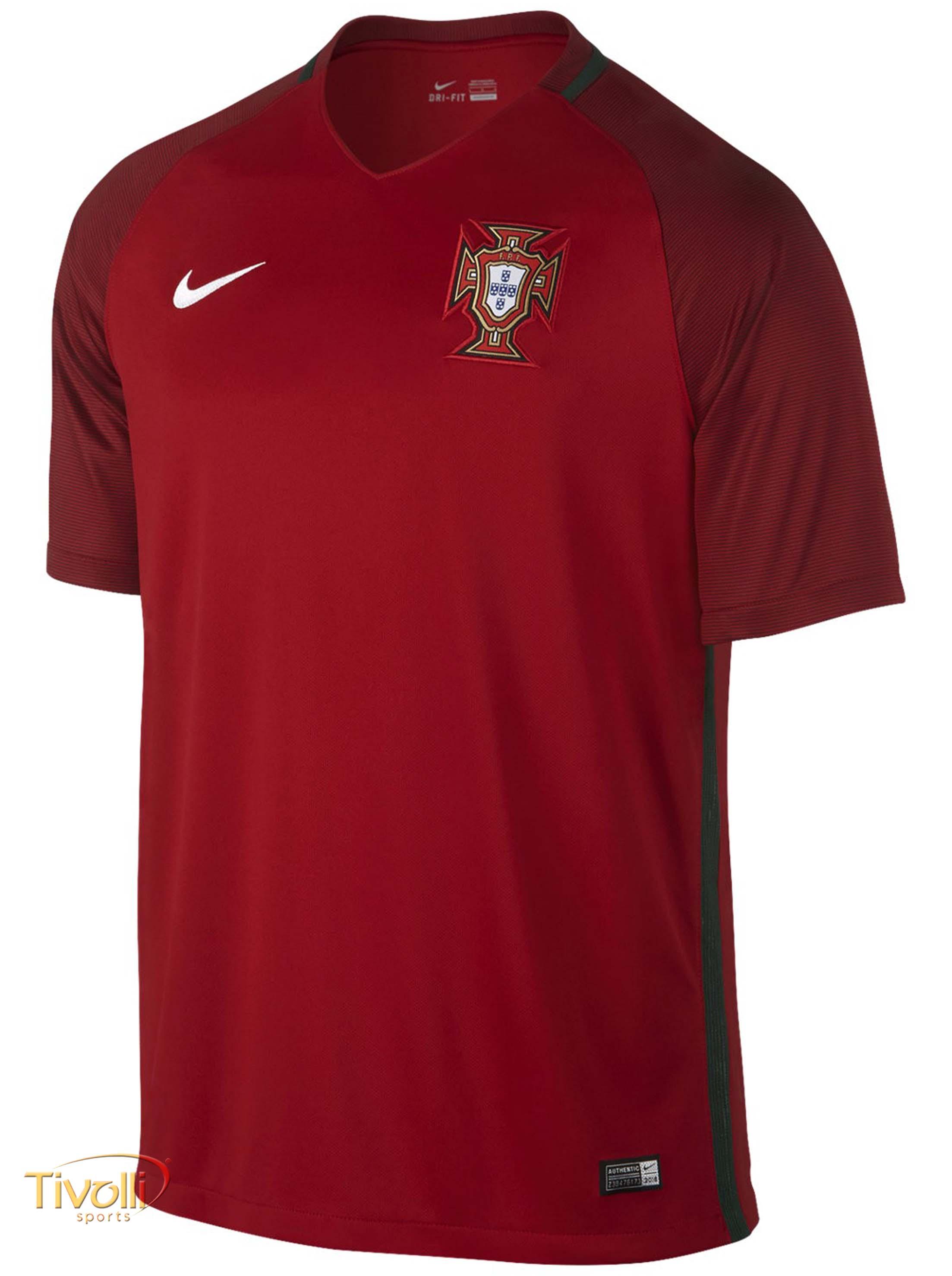 Camisa Nike Portugal I Infantil Torcedor Euro 2016   Vermelha   ca5b540ed6844