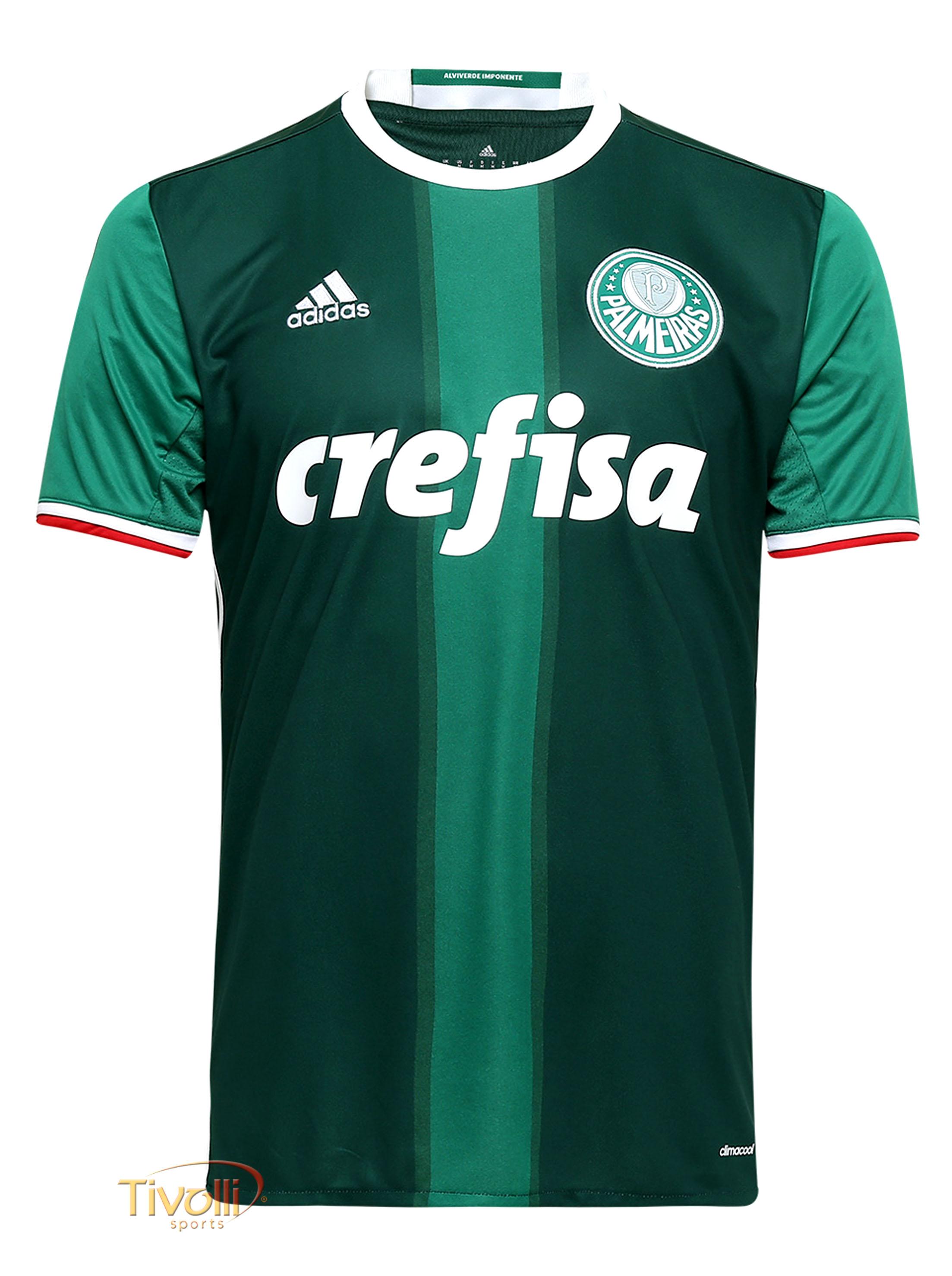 Camisa Palmeiras I Home 2016 Adidas Infantil     e32570ac0b2a3