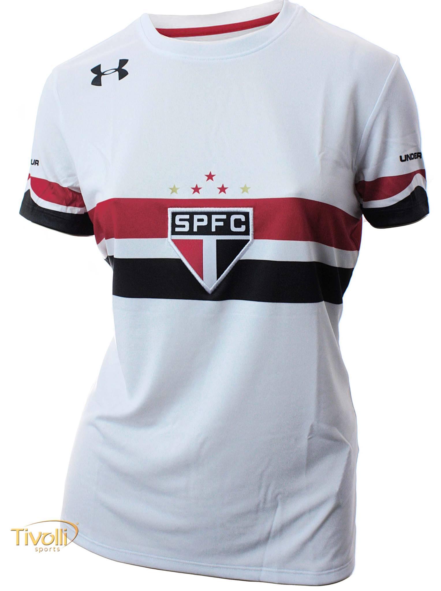 d9472e7eb0 ... Camisa São Paulo I Home 2016 2017 Feminina Branca e8825741d5a4ee ...