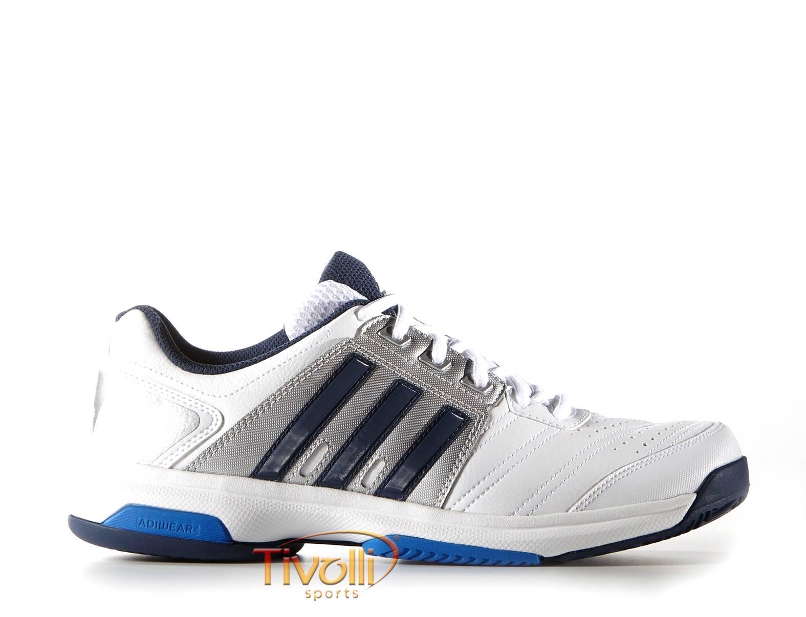 daf6dee4f3 Tênis Adidas Barricade Approach STR > branco, prata e azul >