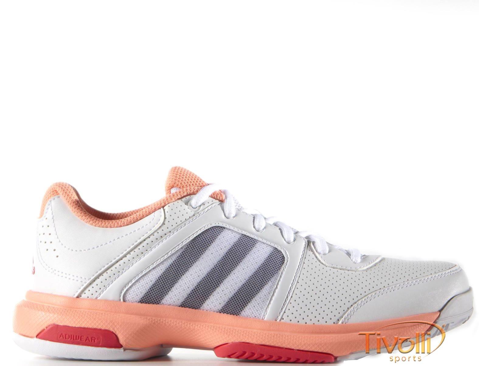 fd47b76c6ba Tênis Adidas Barricade Aspire STR   feminino branco