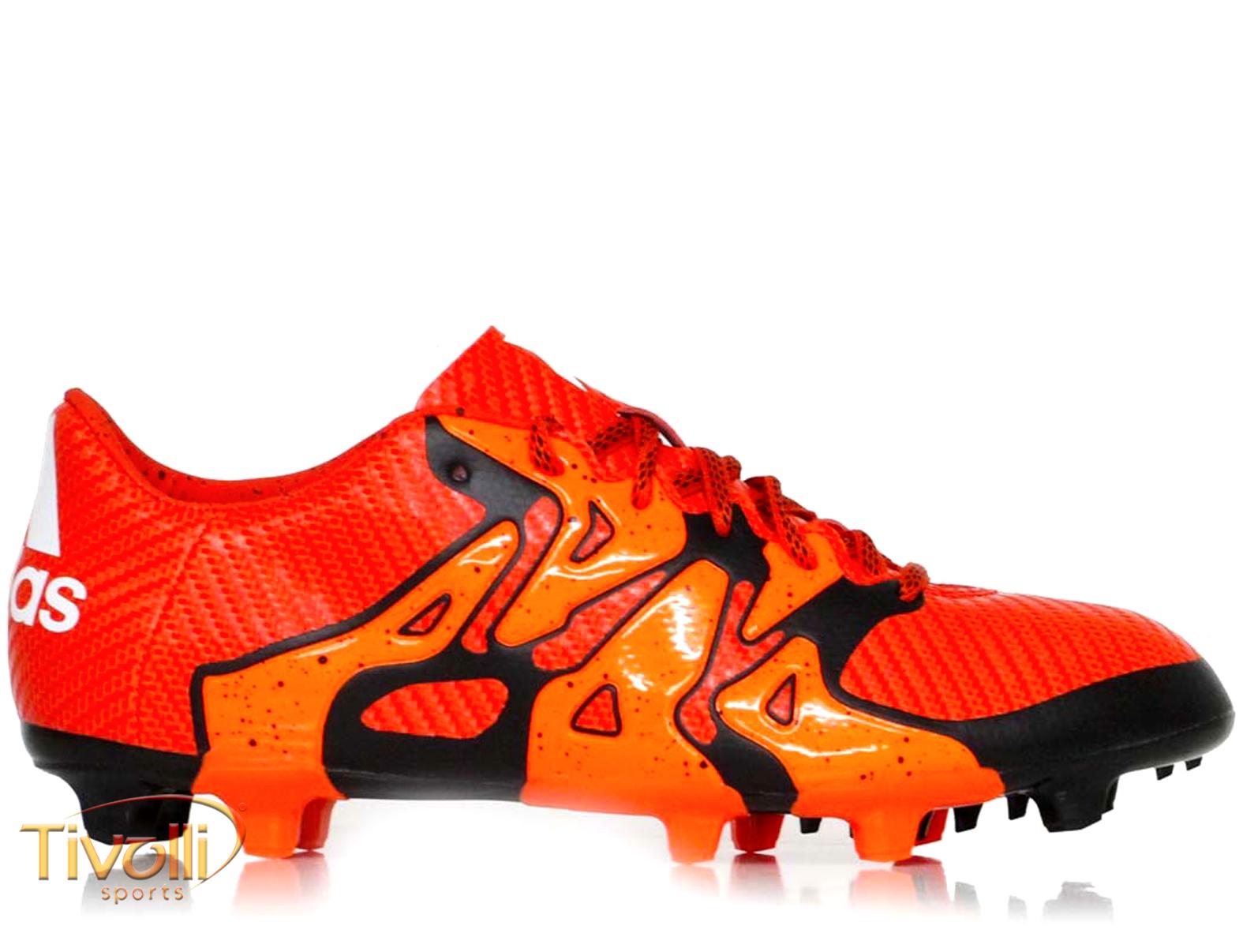 Chuteira Adidas X 15.3 FG Futebol de Campo   Laranja Branco e Preto   ea451ed515678