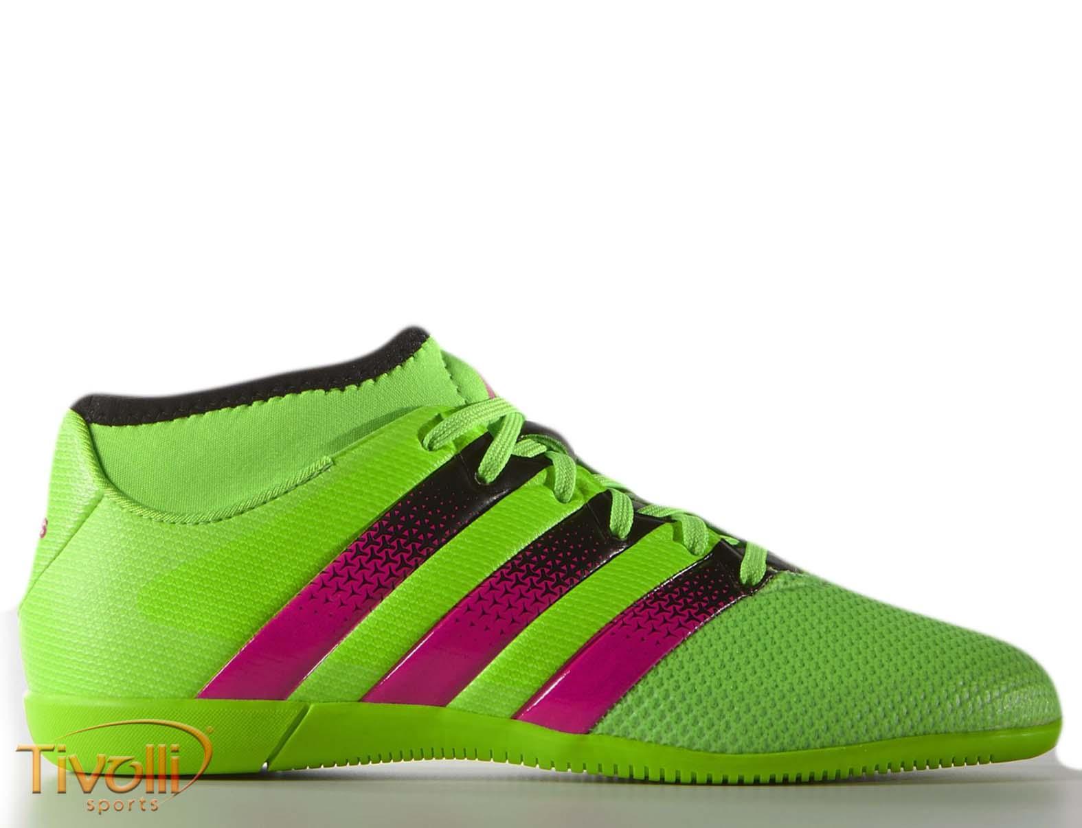 87e0586862 Chuteira Adidas Ace 16.3 Primesh Infantil Futsal   Verde