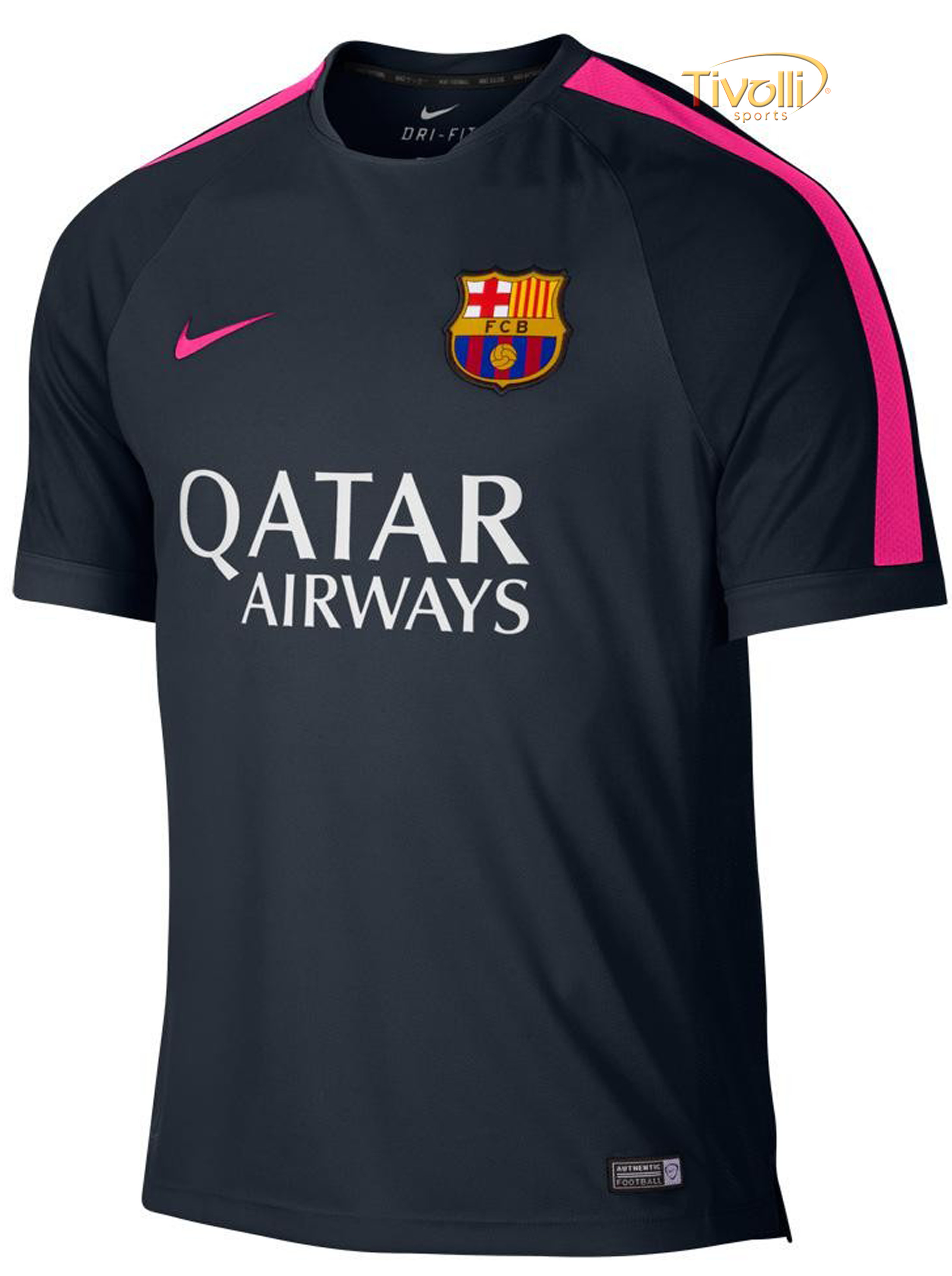 3f0f398b3b Black Friday - Camisa Nike FC Barcelona Treino Masculina Azul Marinho e Rosa