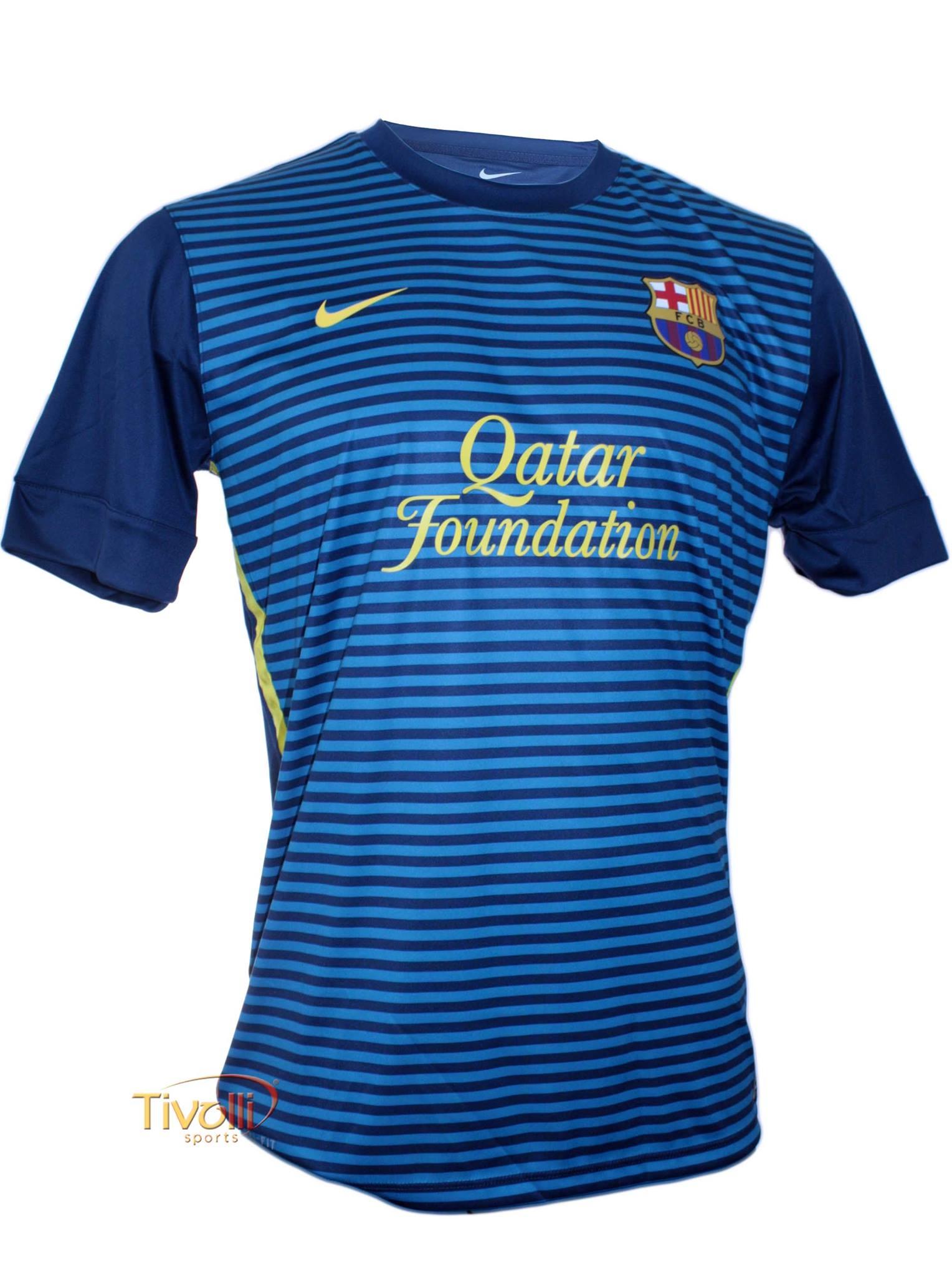 e7245bc8083d4 Black Friday - Camisa Nike FC Barcelona Treino   Azul listrada