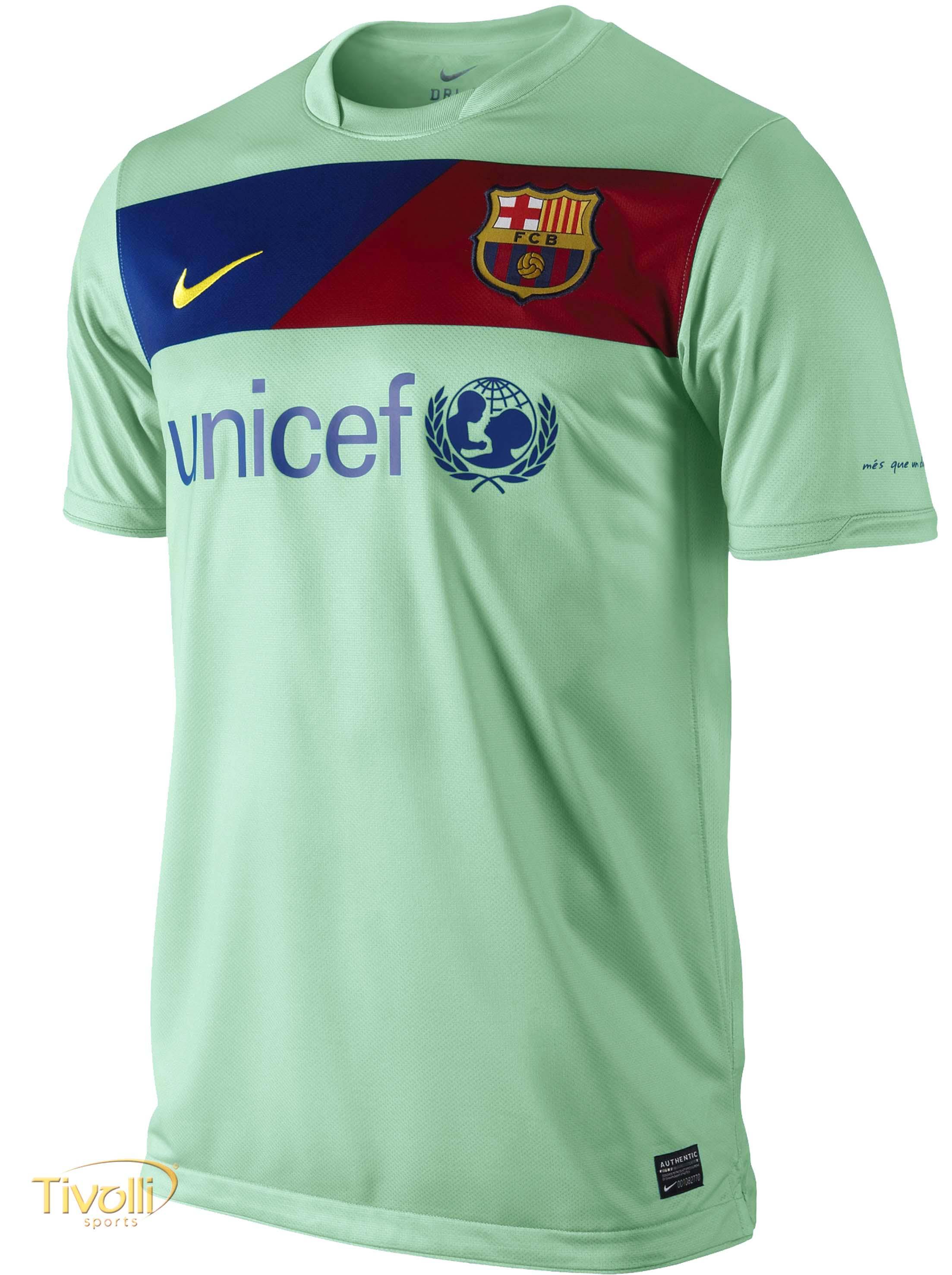 Black Friday - Camisa Nike Barcelona Torcedor   Masculina Verde Água ... 1b16127b971f1
