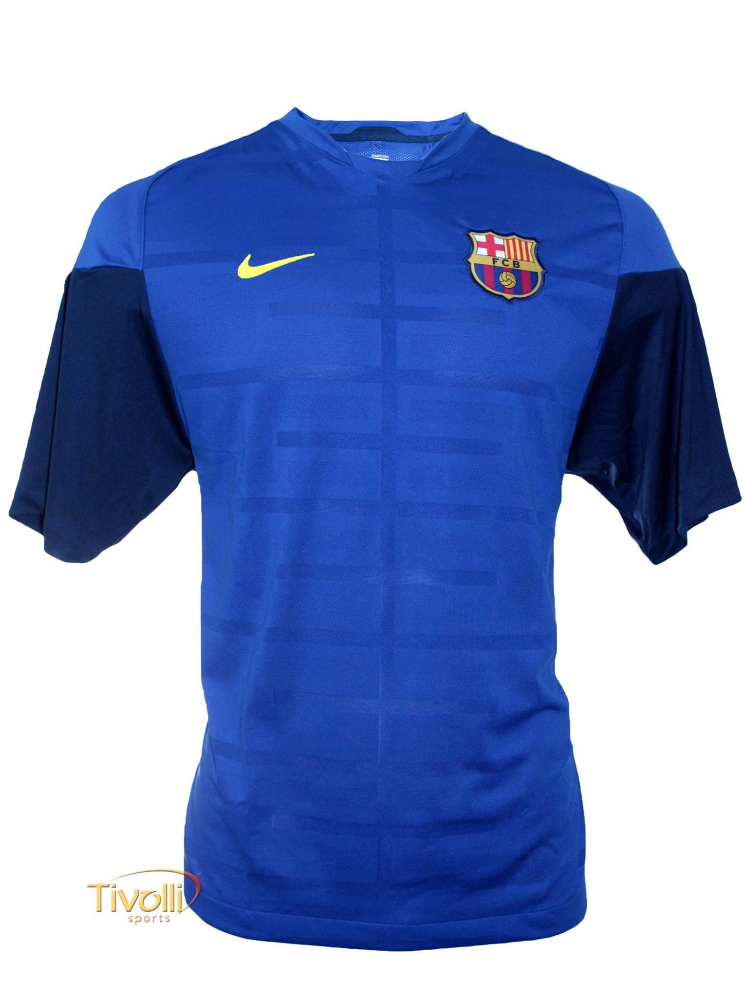 Black Friday - Camisa Nike Barcelona Treino   Masculina Azul   cacc41d2dd100