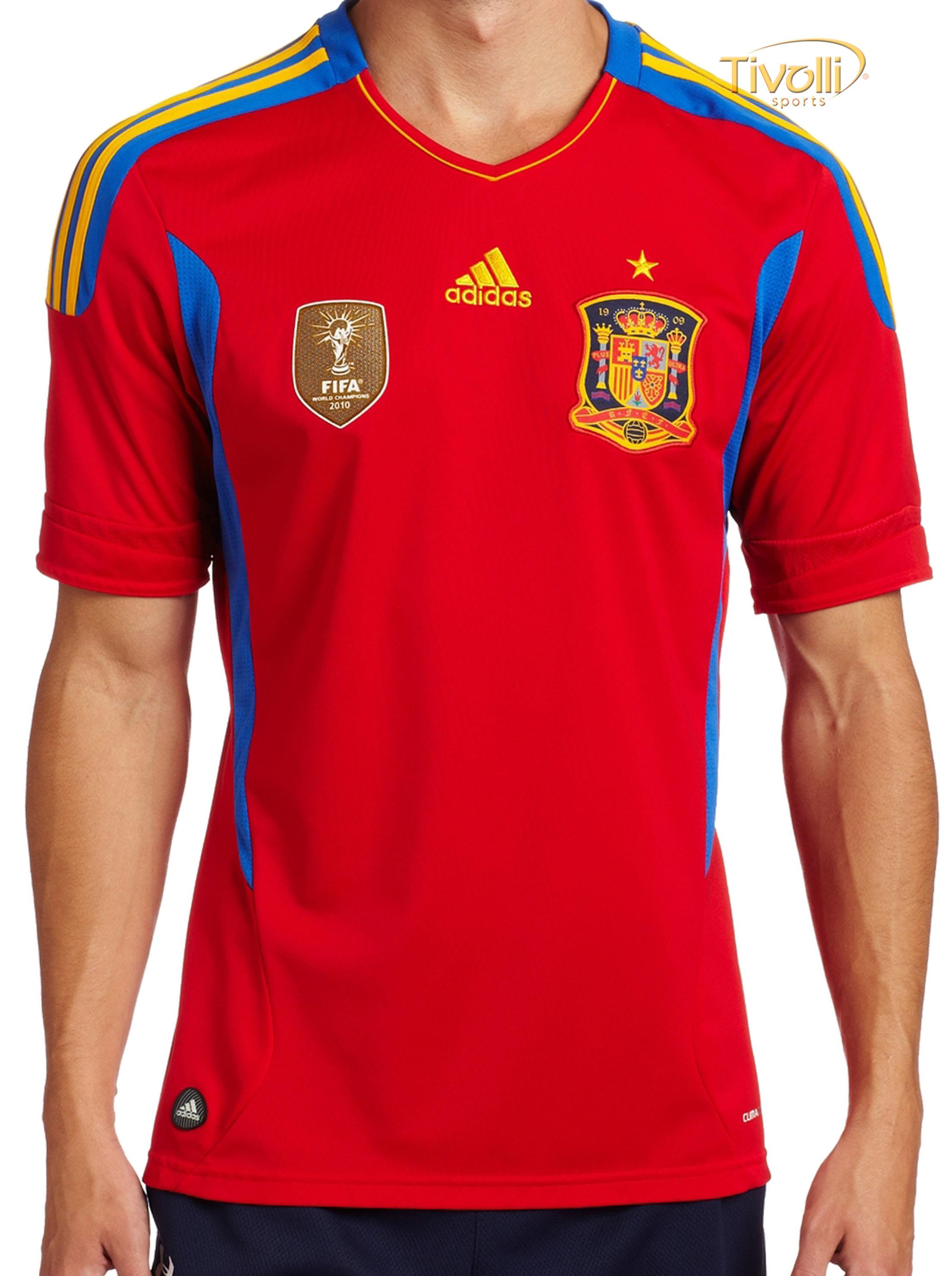 81b24bc58fc9c Black Friday - Camisa Espanha Adidas I Home 2011 12 Masculina Vermelha e  Azul