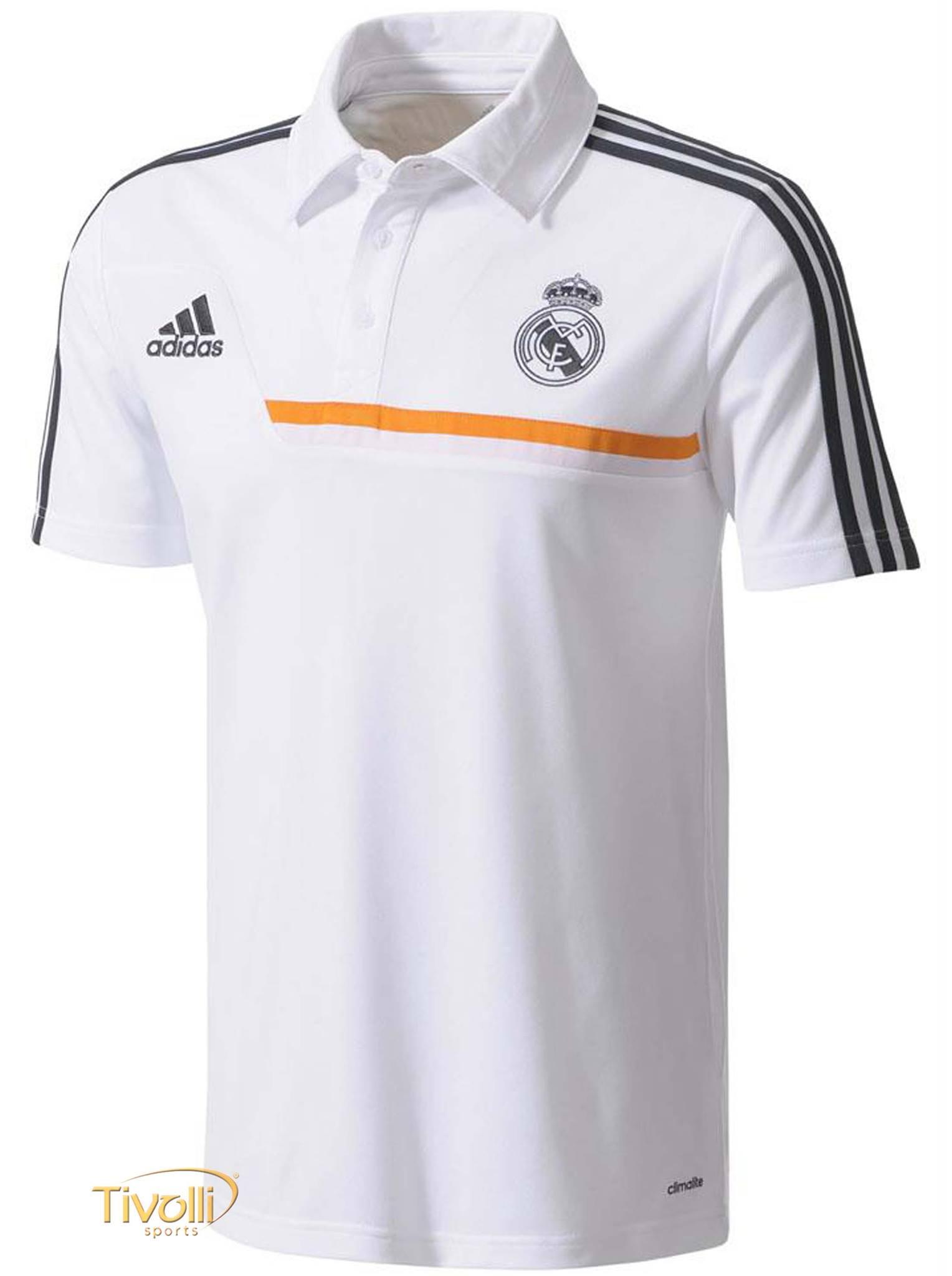 Black Friday - Camisa Polo Viagem Real Madrid Adidas Masculina Branca a7e31e30d226b