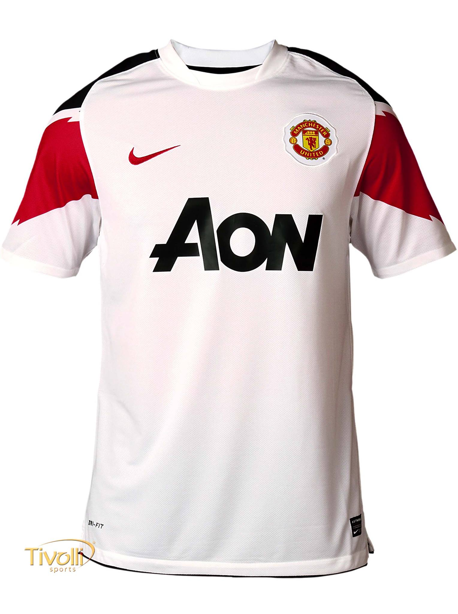bcc0204b93 Black Friday - Camisa Manchester United II Away Nike 2010 11 Branca e  Vermelha