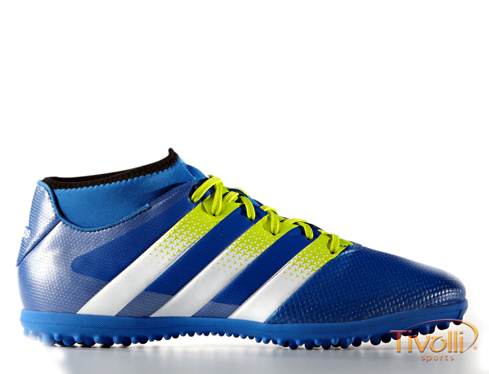 Chuteira Adidas Ace 16.3 PrimeMesh Society TF   Masculina Azul ... 999870f3bfa4d