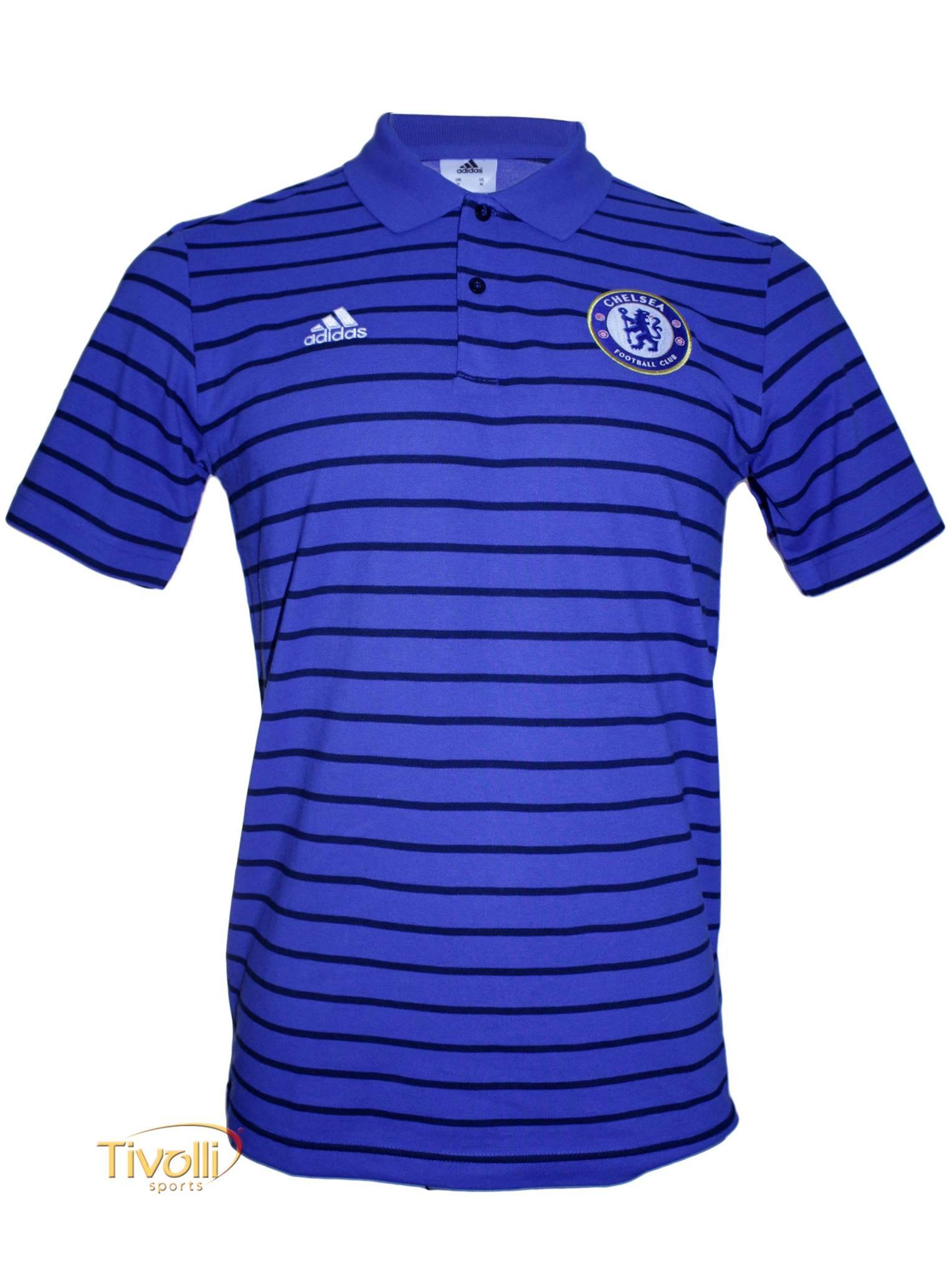 Camisa Polo Chelsea Premium Viagem Adidas   - Mega Saldão   ff2af4b7ae74e