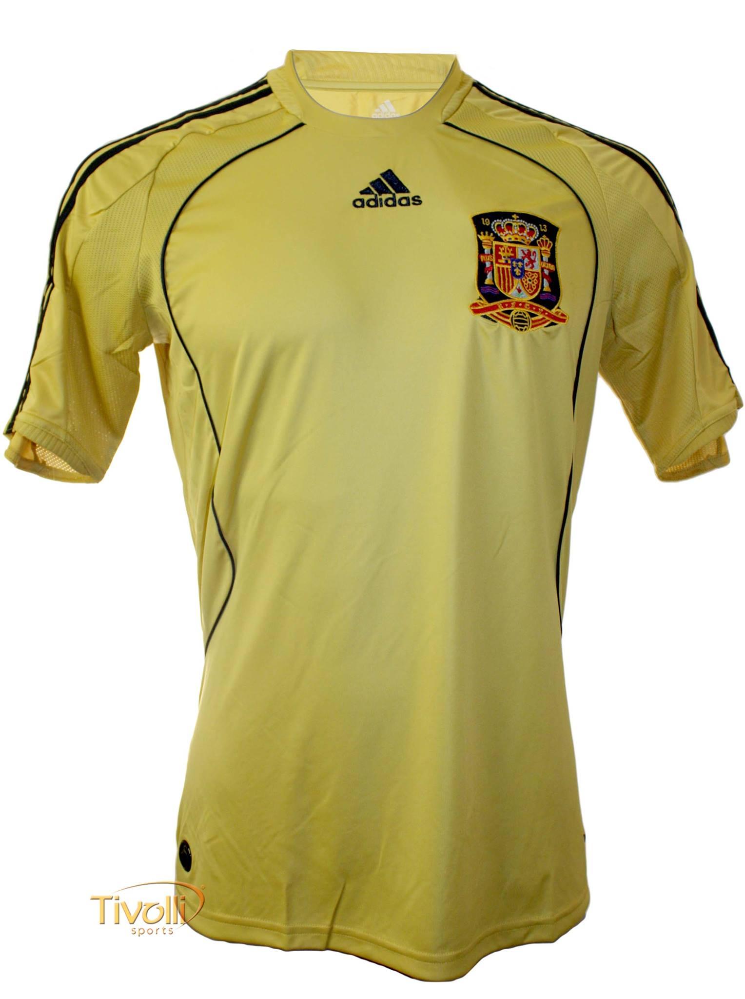 Black Friday - Camisa Espanha II Away 2009 10 Adidas Masculina Dourada e  Preta a2c44d4860271