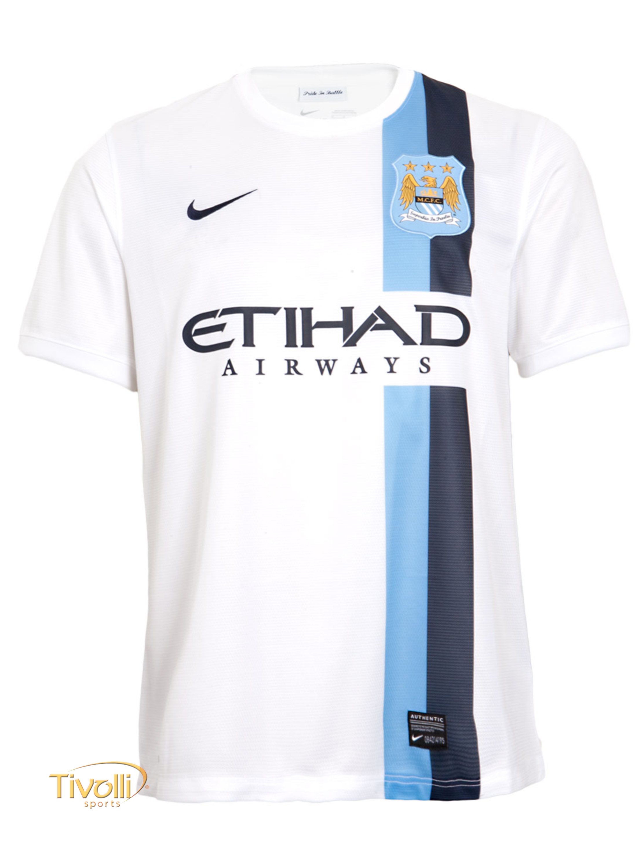 d50b82302f9bd Black Friday - Camisa Manchester City III 2013 14 Nike Masculina Branca e  Azul
