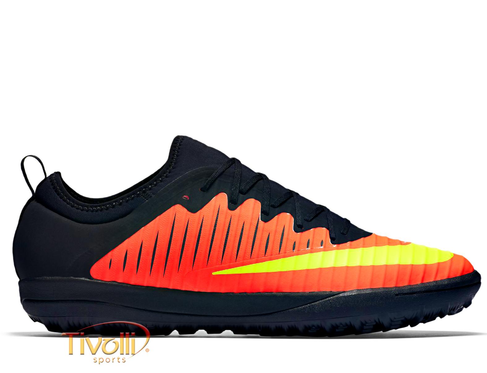 Chuteira Nike Mercurialx Finale II TF Society   Masculina Laranja ... 19c41e147db0b