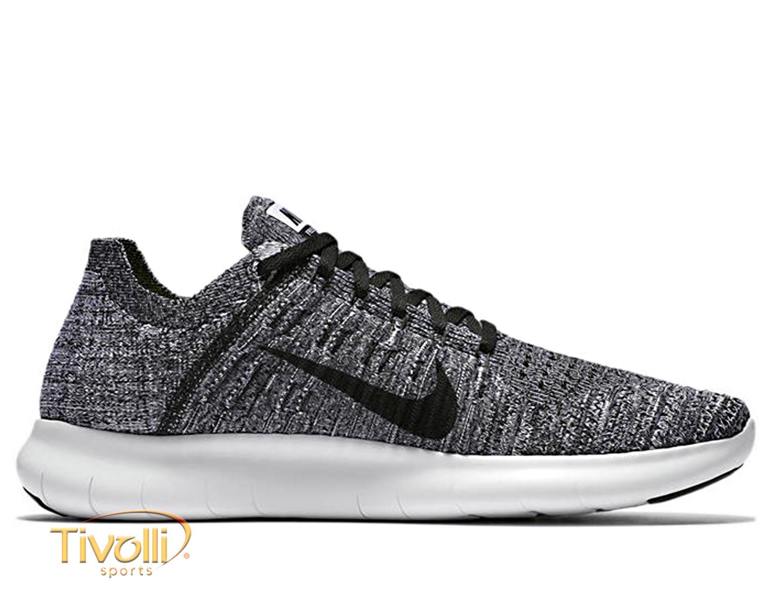 sneakers for cheap e75d6 9b8b9 Tênis Nike Free RN Flyknit Cinza, Preto e Branco - Masculino