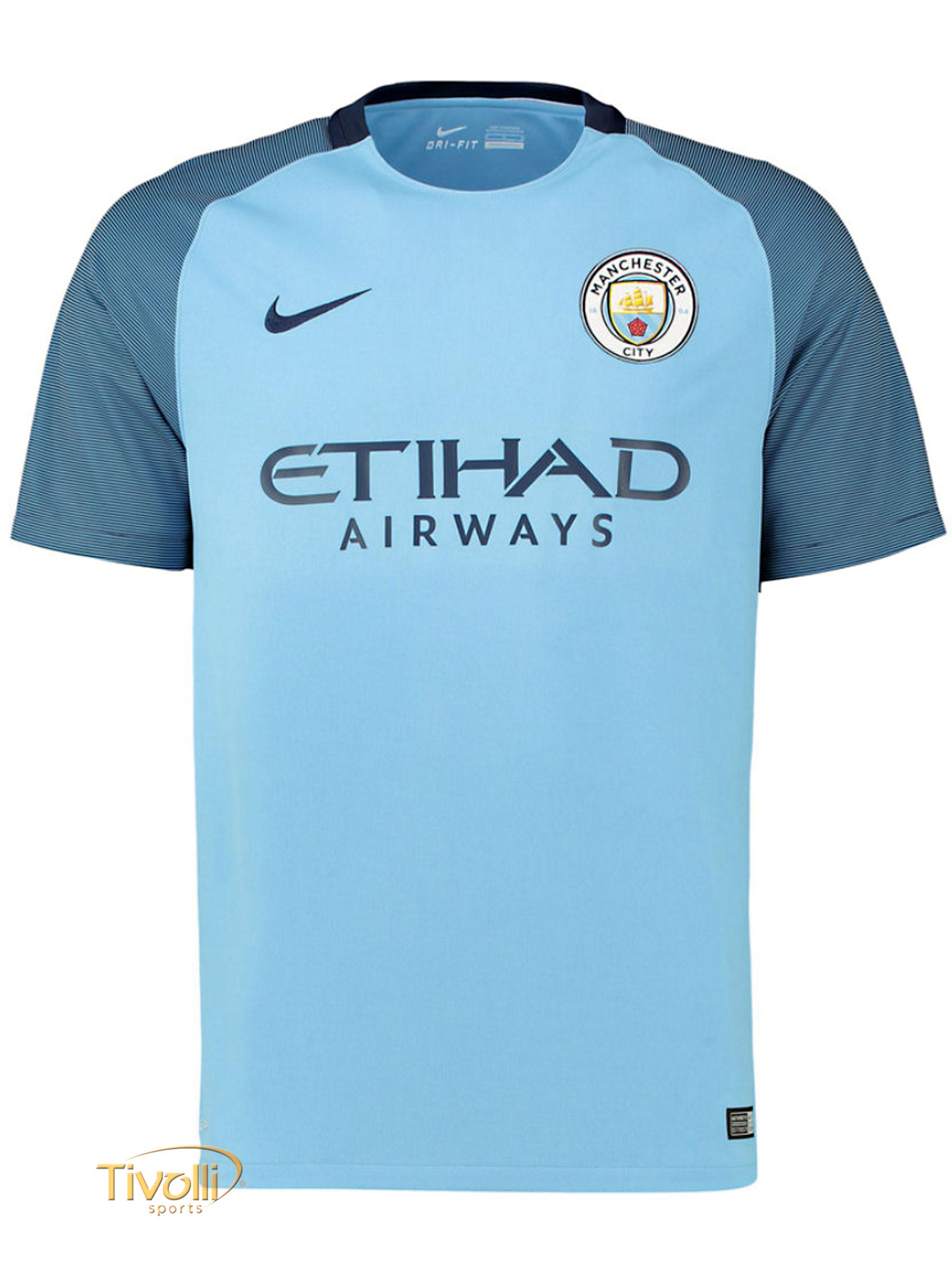Camisa Manchester City I Home Infantil 2016 2017   - Mega Saldão   fc22b3642499b