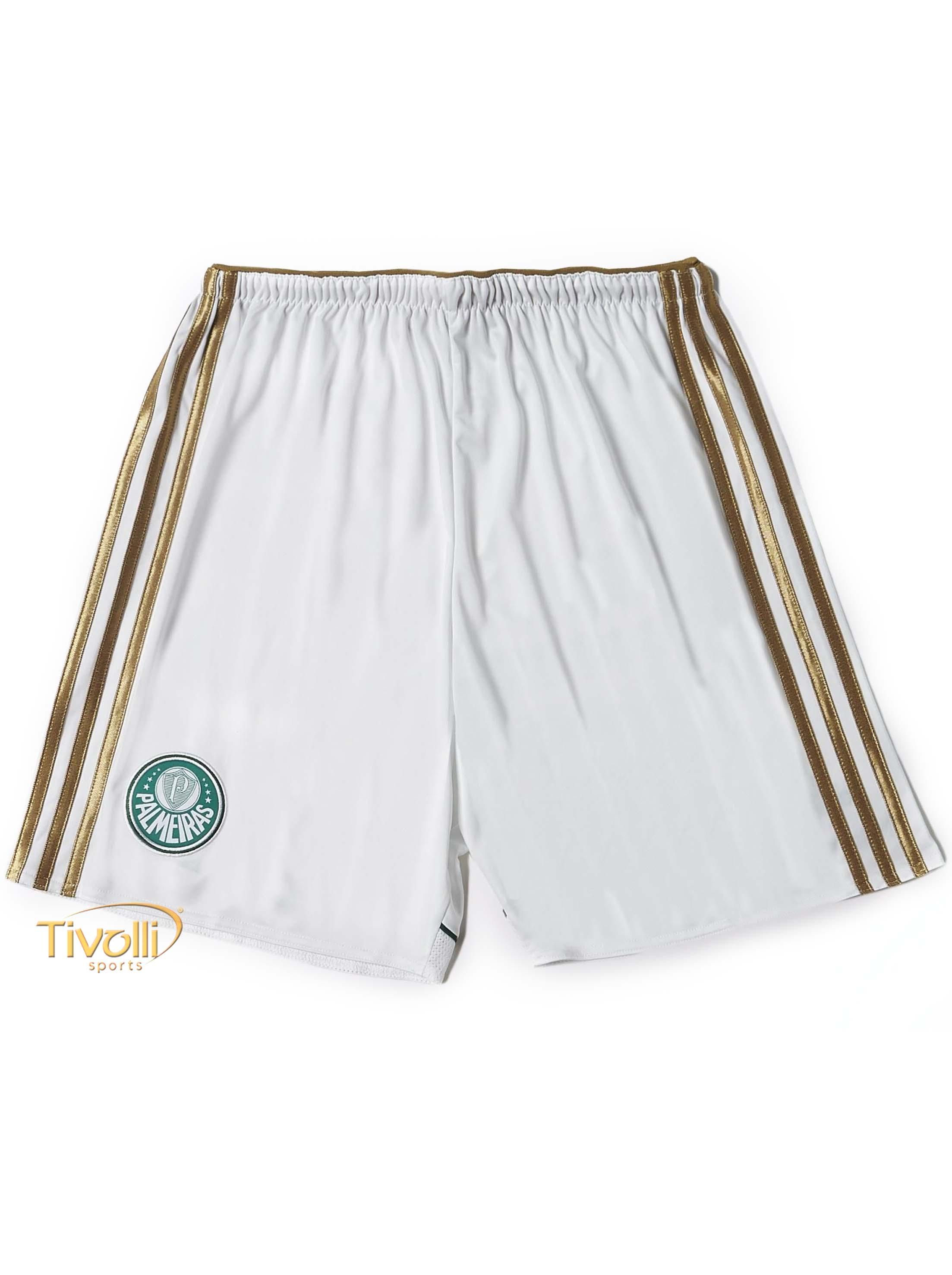 Black Friday - Shorts Palmeiras I Adidas   branco e dourado masculino   a1ce901585112