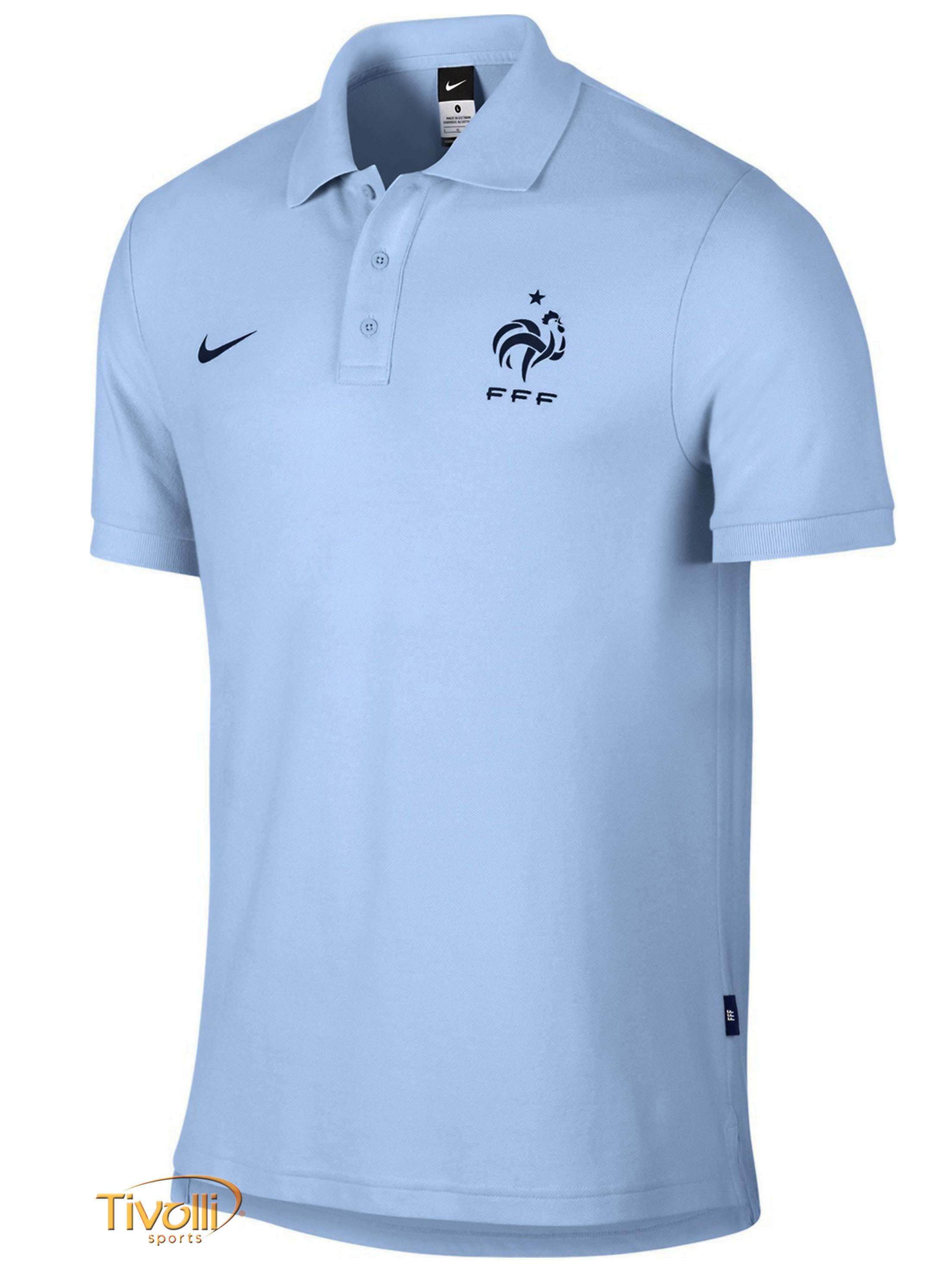 a17f287bb0503 Black Friday- Camisa Polo Nike Core França 2014 15   Masculina Azul