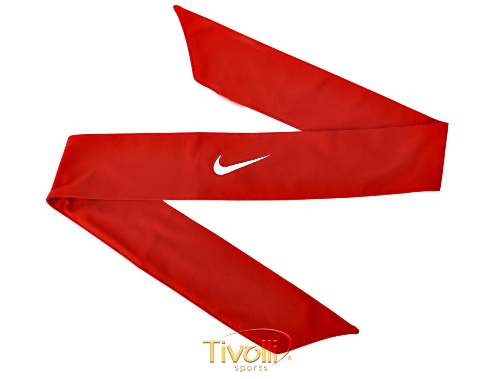 Faixa Bandana Nike   Dri-Fit Head Tie 2.0 Vermelha   b9dcc42738c