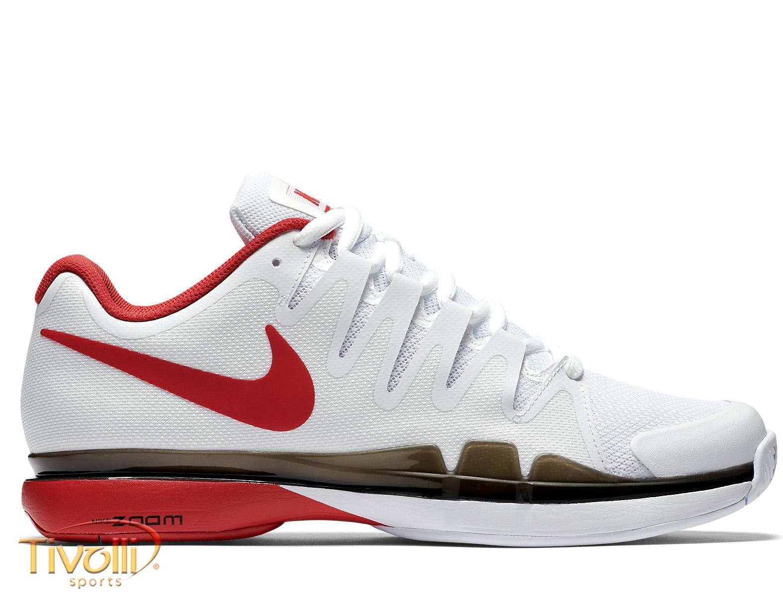262017ba559ca Tênis Nike Zoom Vapor 9.5 Tour   Masculino Branco e Vermelho