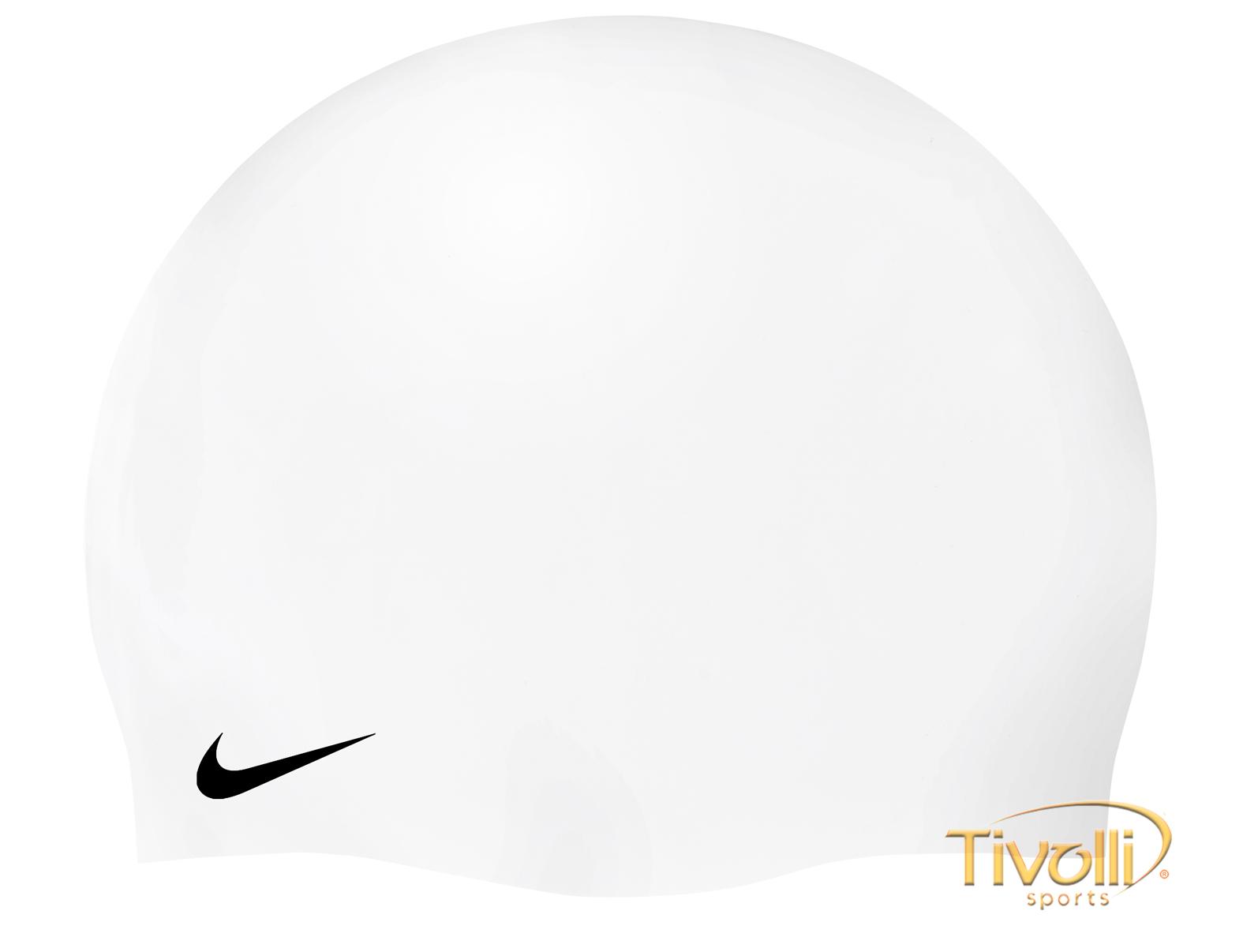 672ff034d2139 Touca de Natação Nike Solid Silicone Cap   Unissex Branca