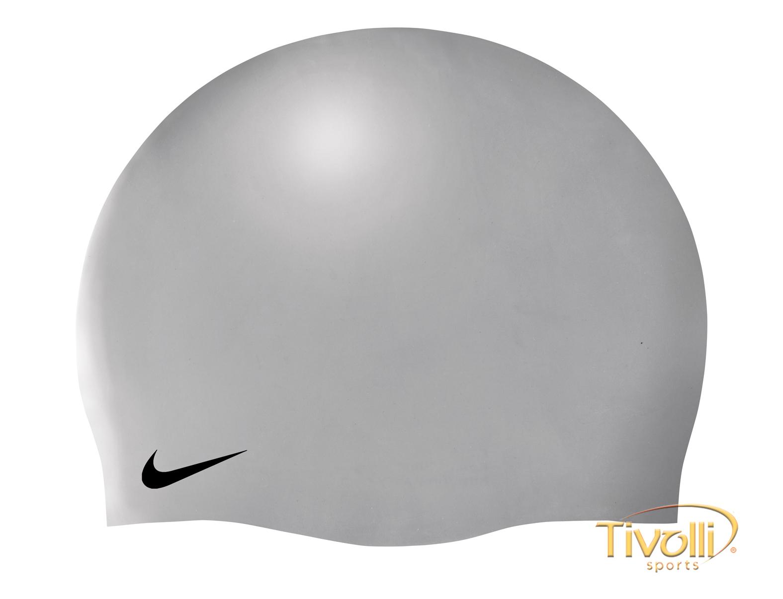 5795da3d6e075 Touca de Natação Nike Solid Silicone Cap   Unissex Cinza