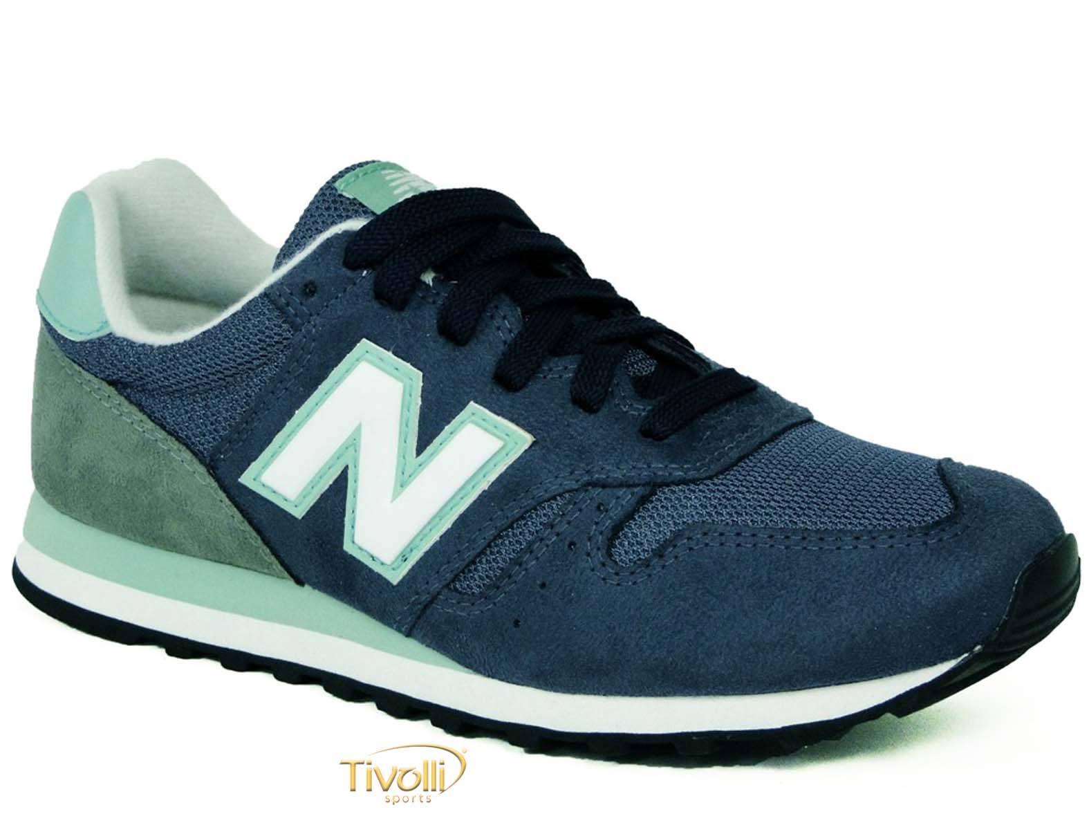 5e0600766d8 Tênis New Balance W373NGB   Azul Marinho e Verde - Tamanho 34 ao 39