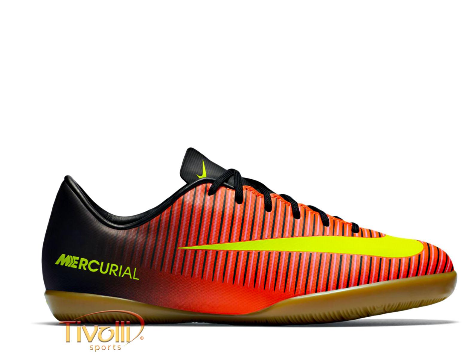 7819086803 Chuteira Nike Mercurial Vapor XI IC Jr Futsal   Juvenil Laranja ...