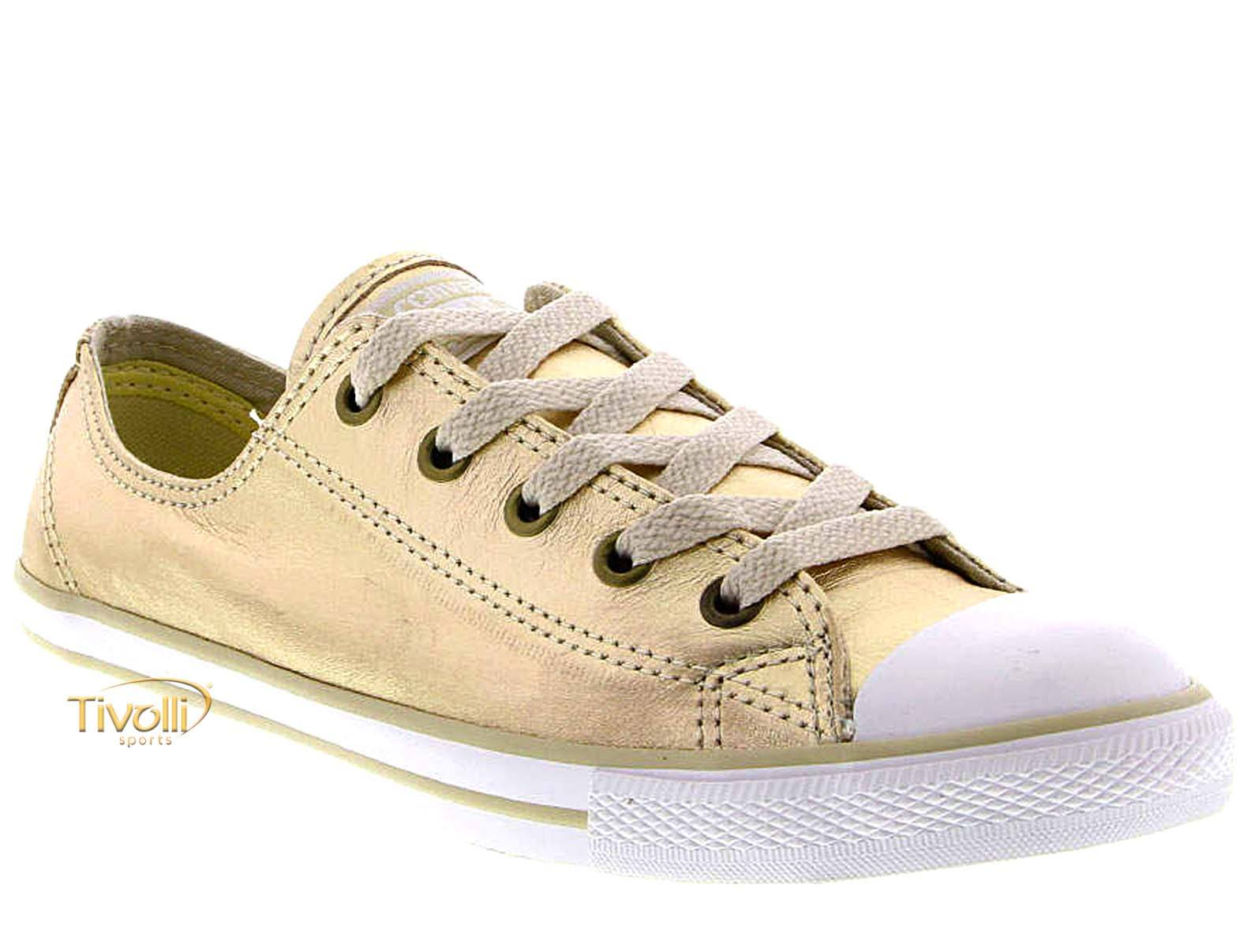 97ad80cf69d Tênis Converse All Star CT As Dainty Leather OX   Feminino Ouro