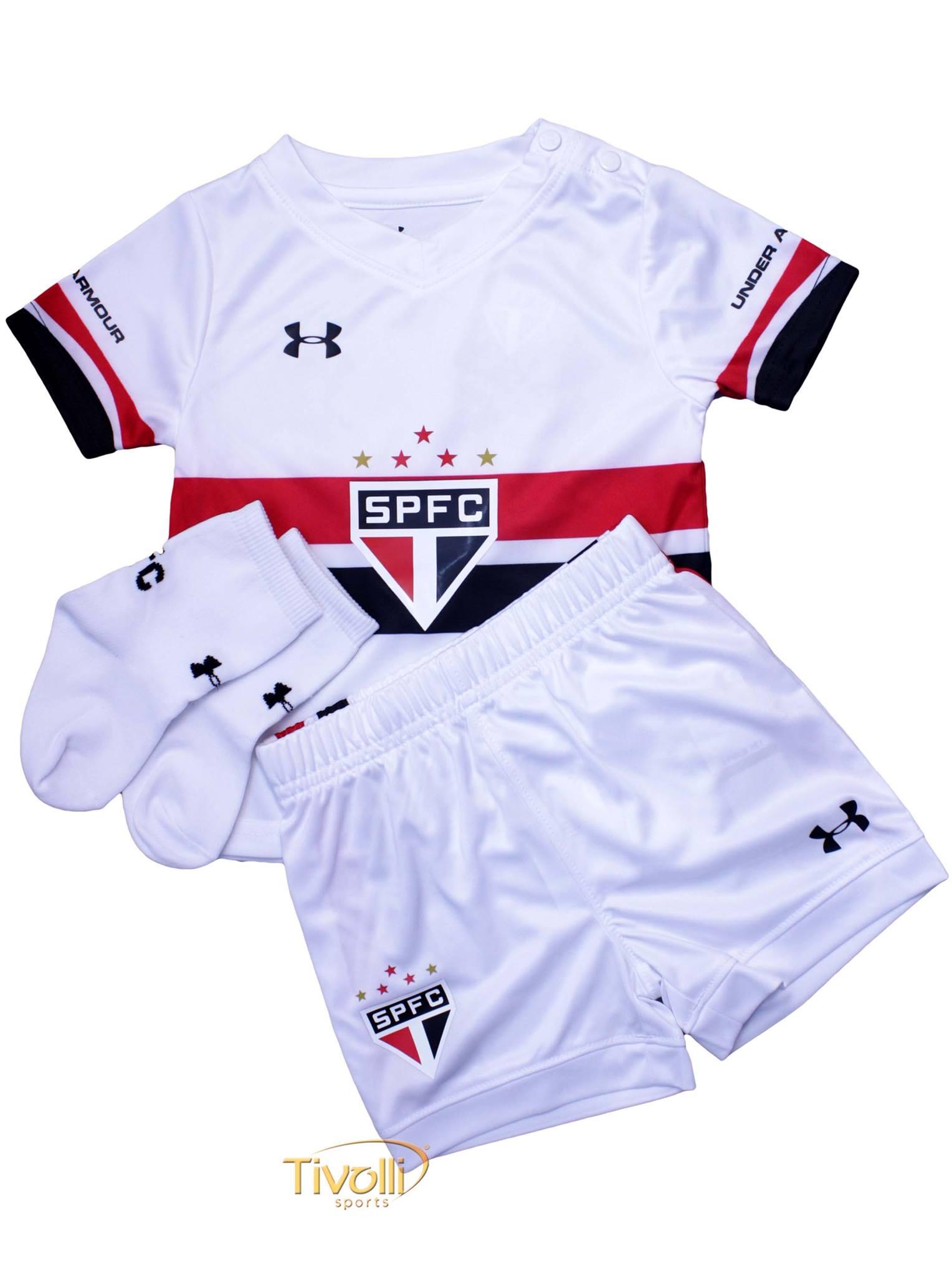 876f436fe Kit Infantil São Paulo I Under Armour 2016/17 Branco, vermelho e preto 2 a  4 anos