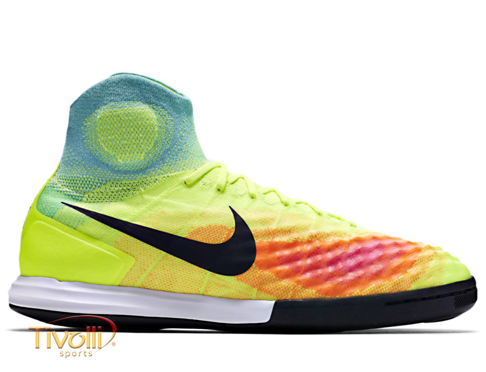 b02090d136 Chuteira Nike Jr MagistaX Proximo II ULTD IC Juvenil Futsal Amarela Flúor