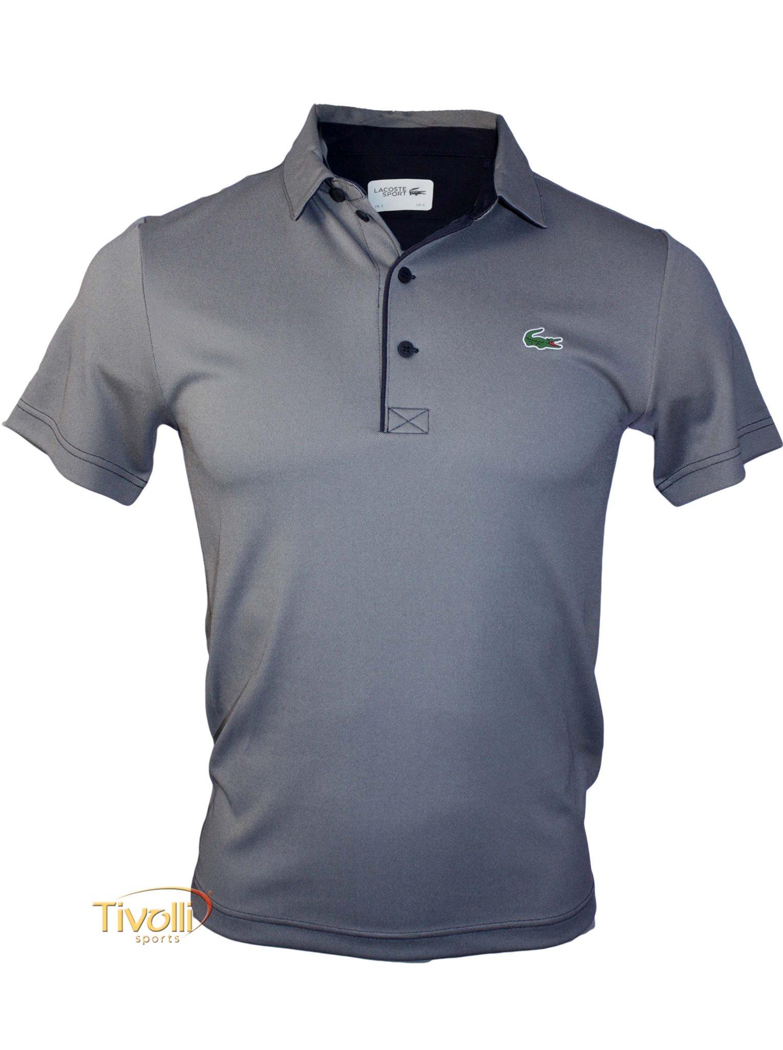 c4c516a32ee3d ... Camisa Polo Lacoste Sport Ultra Dry masculina cinza e azul marinho  f5466fe2b3fbe5 ...