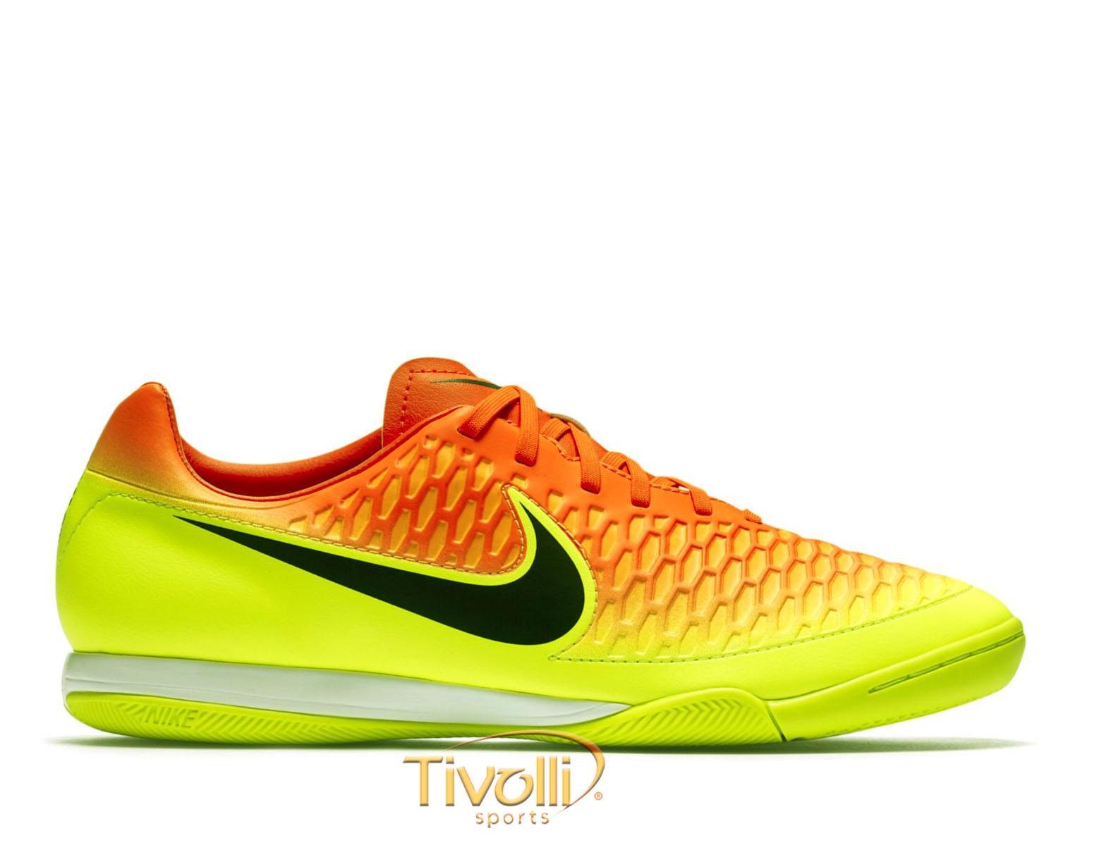 Chuteira Nike Magista Onda I IC Futsal   Amarela Flúor e Laranja   1a9d24b2ec15c