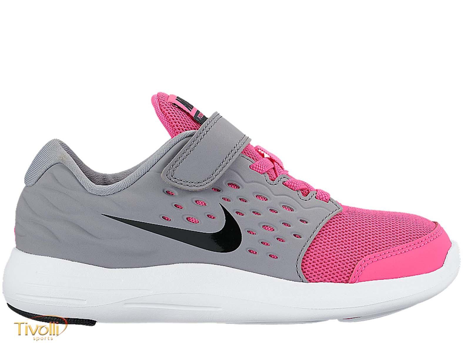 Tênis Nike Lunarstelos Psv Infantil Rosa Cinza E Branco