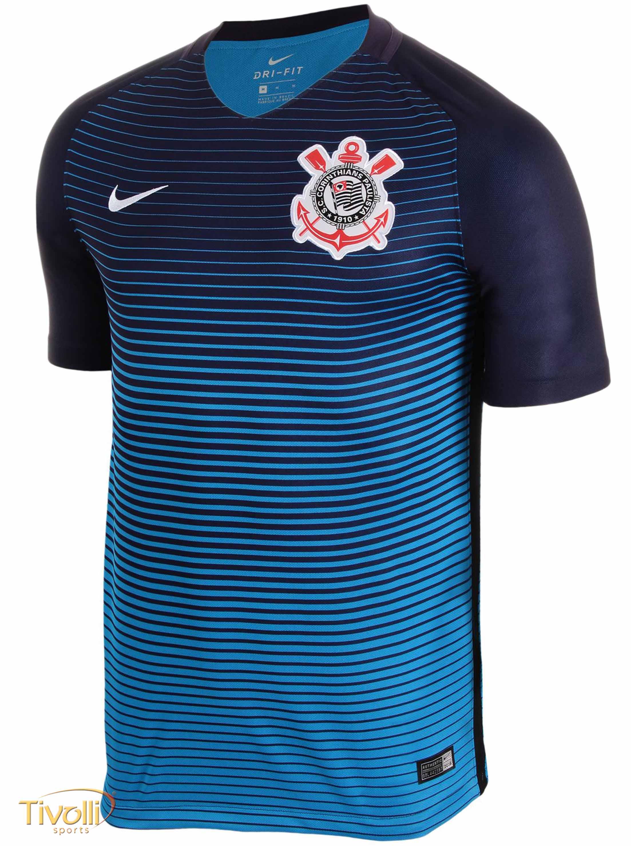 Camiseta Nike Corinthians III 2016 2017 Torcedor Infantil   Azul   4398d372166a5