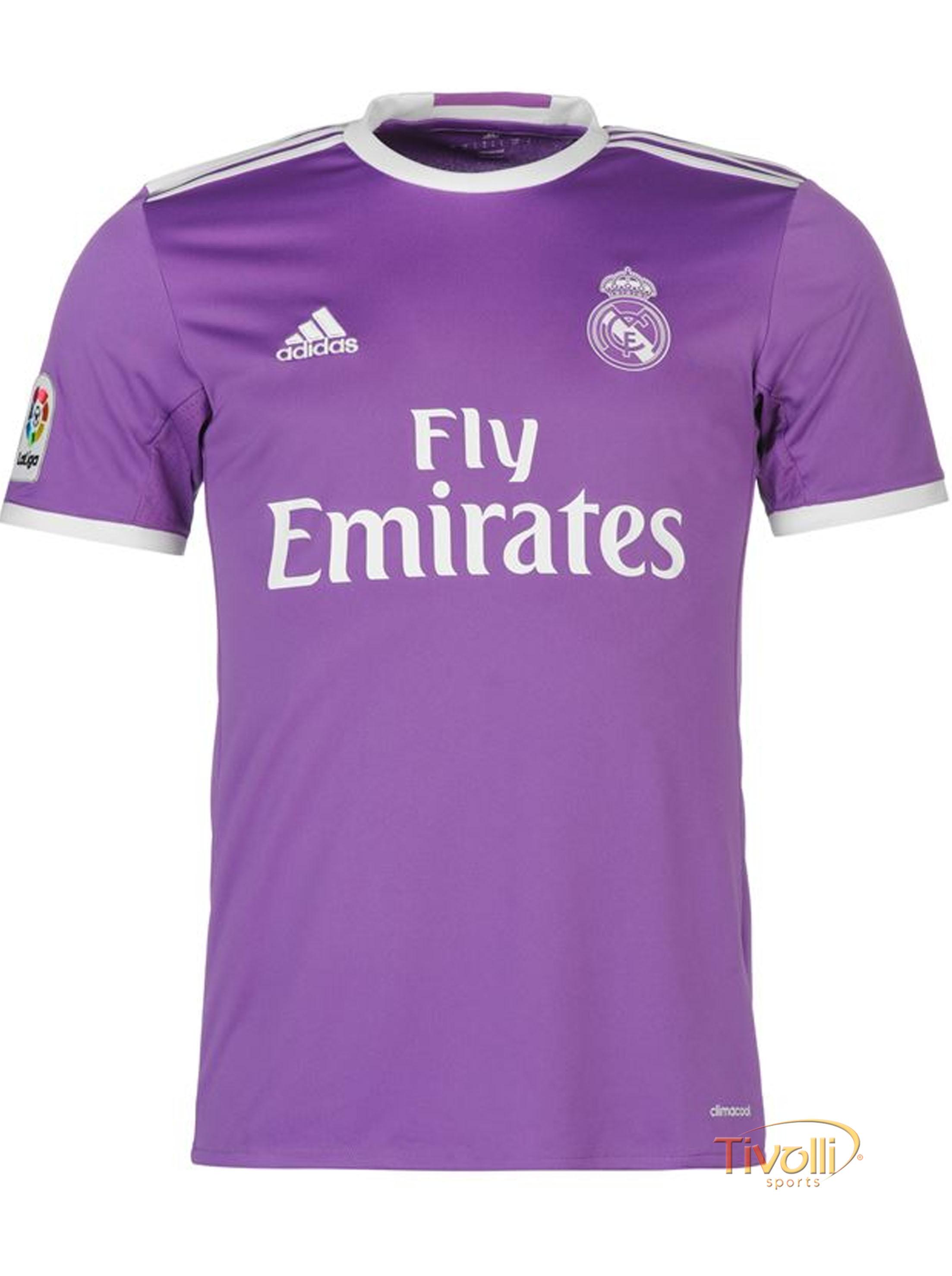 Camisa Real Madrid II Away 2016 17 Adidas Infantil   - Mega Saldão   681eae9e488fe