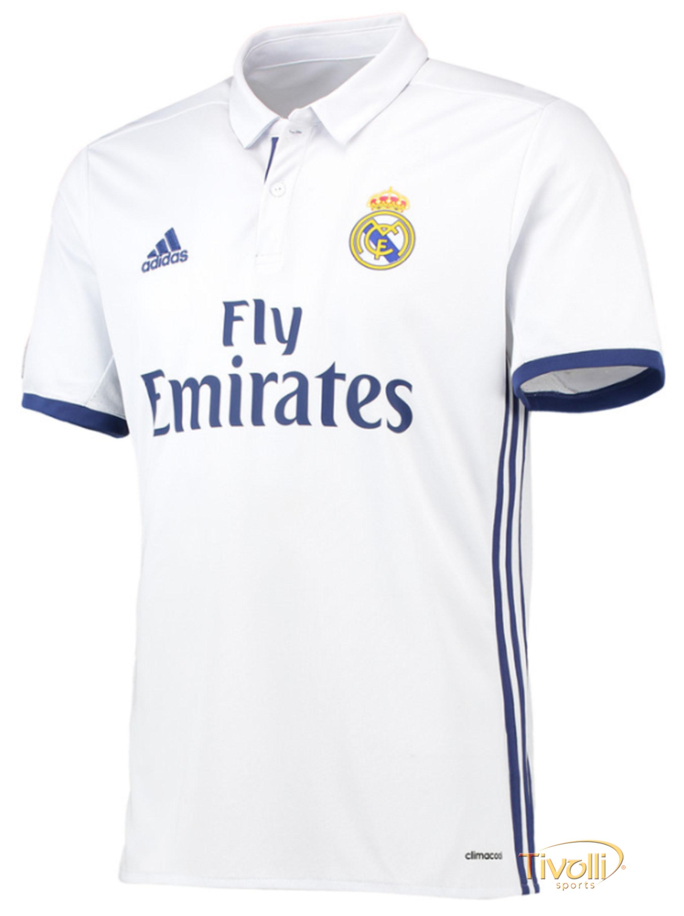3d6e0748e997 Camisa Real Madrid I Home 2016/17 Adidas Infantil - Mega Saldão